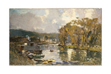 The Small Branch of the River Seine at Bas-Meudon on an Autumn Evening  1893