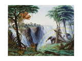 The Mosi-O-A-Tunya (Smoke Resounding) or Victoria Falls  Zambesi River  1874