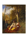 An Algerian Woman and Her Servant in a Garden  1844