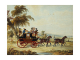 The Brighton - London Coach on the Open Road  1831