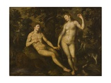 Adam and Eve in the Garden of Eden  C1590-1610