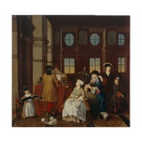 Music Society - from a Series of Four Paintings Showing People at Leisure  18th Century