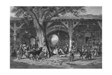 A Street in Damascus  Engraved by C Bertrand