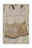 Full Length Portraits of Wrestlers of the Eastern Group  Depicting Uzugafuchi and Onagawa