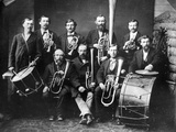 Colorado's First Brass Band  1862 (B/W Photo0