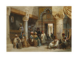 Arabic Figures in a Coffee House  1870