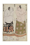 Full Length Portraits of Wrestlers of the Western Group  Depicting Sekinoto Hajiroji and…