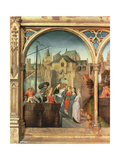St Ursula and Her Companions Landing at Cologne  from the Reliquary of St Ursula  before 1489