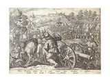 The Battle of Mons Regionis  Plate from 'The History of the Medici'  Engraved by Philip Galle…