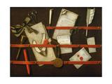 A Trompe L'Oeil Letter Rack  1701