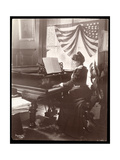 Mrs Florence Clinton Sutro Playing the Piano in Her Home at 320 West 102nd Street  New York  1899