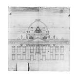 Design for the Ecole Militaire in Paris  1769