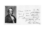 Handwriting and Signature of Richard Cobden