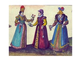 English Women of the Elizabethan Era  1598 (Detail)
