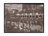 View of the Crowd and a Marching Military Group in the Dewey Parade on Fifth Avenue  New York  1899