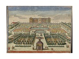 View of Frederiksberg Palace in Denmark from the Palace Garden  Augsburg  1750