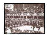 View of the Crowd and a Mounted Military Group in the Dewey Parade on Fifth Avenue  New York  1899