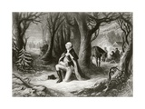 George Washington Prays at the American Revolutionary War Encampment of Valley Forge During the…