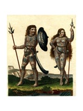 Aborigines of England: Early Britons with their Body Decorations  1804