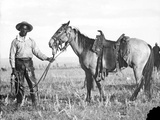Black Cowboy and Horse  C1890-1920