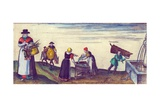 Country Folk Going to Market  Fishwives Selling Pike and an Apprentice Fetching Water from a…