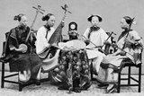 Female Musicians with Traditional Chinese Musical Instruments in Hong Kong  C1885