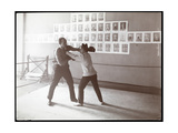 Edna Wallace Hopper Posed in a Boxing Ring with Jack Cooper at His Gymnasium at Broadway and 37th…