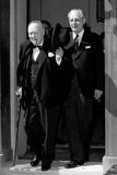 Sir Winston Churchill and His Host  Prime Minister Harold Macmillan  at the Door of No 10…