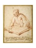 Padre Sebastiano Resta Examining a Folio of Drawings