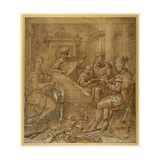 An Allegory of Music: Fame at the Virginals; Two Young Lutenists Seated; a Bearded Elder Teaches…