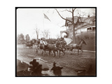 Horsedrawn Carriages on Riverside Drive in Front of the Claremont Inn  New York  C1895