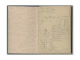 Handwritten Page  from a Sketchbook  1888-89
