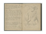 Handwritten Page and Landscape  from a Sketchbook  1888-89