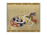 The Lute and White Snake of Benten  Edo Period  1847