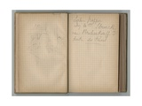 Sketch and Handwritten Page  from a Sketchbook  1885  1887-88