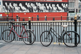 Bicycles at Metal Bar   London  Britain   Uk United Kingdom England