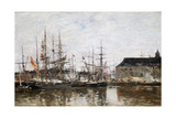 Three-Masters in Dock  Antwerp  1871