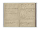 Handwritten Pages  from a Sketchbook  1888-89