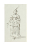 Chloris: Alternative Sketch for Henrietta Maria  C1631