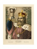 Portrait of Gambrinus  Legendary King of Flanders  Pictorial Broadsheet Published by FC…