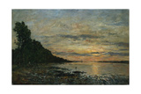 Plougastel  Sunset over the Estuary  C1870-73