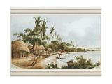 House and Mission Church  Apia Bay  Upolu  Samoa  by Conway Shipley  May 1848