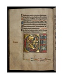 Ms 322 F82V  Psalm 80  Initial E  Jacob Wrestling with the Angel  Jacob's Dream  Illustration…