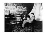 Aubrey Beardsley in the Cosmopolitan Hotel  Menton  France  1898
