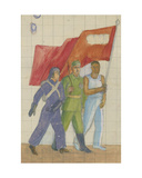 Carrying the Red Banner  1930s