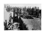 Bureal (Burial) of the Dead at the Battlefield of Wounded Knee  South Dakota  1891