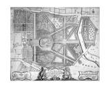 Plan of Ye Royal Palace and Gardens of Kensington  1736