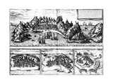 Views of Aden  Mombaza  Quiloa and Cefala  from Georg Braun's 'Civitates Orbis Terrarum' …