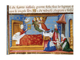 Birth of Mary Codex of Predis (1476) Italy