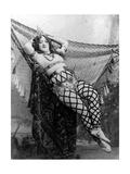 Sarah Brown Posing as Cleopatra for the Bal Des Quat'Z'Arts  1893